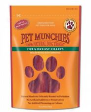 Pet Munchies Duck Breast Fillets ~ 4 x Packs (80g/Pack) 100% Natural Dog Treats