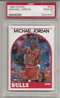 1989 HOOPS #200 MICHAEL JORDAN, PSA 10 GEM MINT, HOF, CHICAGO BULLS, L@@K