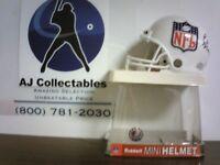 ELI MANNING NEW YORK GIANTS WHITE NFL AUTOGRAPHED RIDDELL MINI HELMET - W/COA
