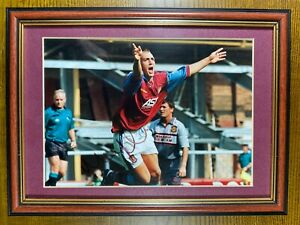 Mark Draper Signed Framed & Mounted Photo Aston Villa Personally Acquired