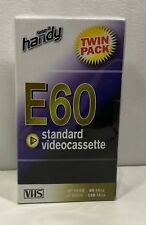 2 x 1 HOUR HANDY VHS E60 BLANK VIDEO VCR TAPE CASSETTE CASSETTES - NEW TWIN PACK
