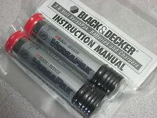 2 Black & Decker authentic VersaPak VP100 type 2 battery for B&D 7.2V power tool