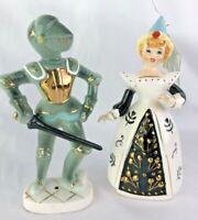Vintage Ceramic ENESCO KNIGHT & DAMSEL IN DISTRESS  figurines