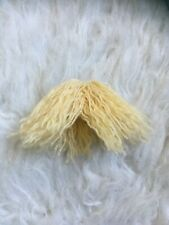 Handcrafted Yarn Wig for Realpuki or Similar Headed Tiny BJD Doll Yellow Blonde