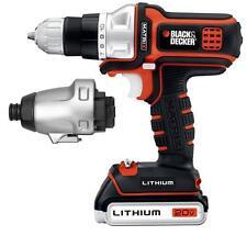 20 Volt Max Lithium-Ion Matrix Power Drill Impact Driver Tool Combo Kit (2-Tool)