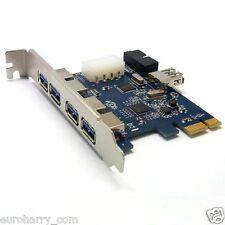 5 puerto USB 3.0 PCI-e PCI Express tarjetas adaptador con 20 pin placas madre