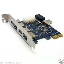 5 Port USB 3.0 PCI-E PCI Express Karten Adapter mit 20 Pin Mainboards