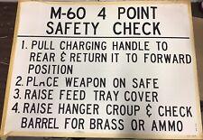 "Vietnam Era Military Training Poster ""M-60 4 Point Safety Check"""