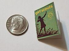 Miniature book Girl Scouts Handbook  Action Figure  Barbie 1/12 Scale Green