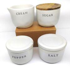 Hearth & Hand with Magnolia Salt & Pepper Creamer & Sugar Stoneware Farmhouse