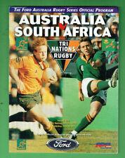 #Kk. Rugby Union Program - 13/7 1996, Australia V South Africa