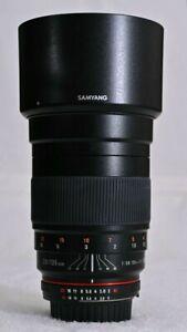 Rokinon 135mm F2.0 ED UMC Telephoto Lens for Nikon - Mint Condition.