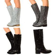 Damen Stiefel GLITTER BOOTS Cowboy Reiter LIMITED EDITION Luxury Boots 069 VE