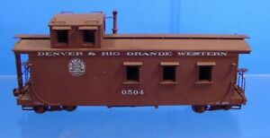 On3 BRASS MAX GRAY/U.S. HOBBIES DENVER & RIO GRANDE WESTERN D&RGW CABOOSE 0504