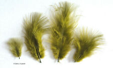 """Marabou Feathers 7 grams Small 1-3"""" fluffs Olive Green approx. 105 per bag"""