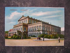 Postkarte Koloriert Colourized Gelaufen Circulated Hannover Hoftheater 1910