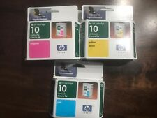 5 Genuine HP 10 Cyan/C4841A Magenta/C4843A Yellow/C4842A Printhead 2000c 2500c +