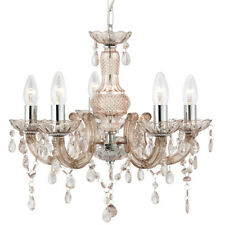 Searchlight 1455-5MI Marie Therese Mink 5 Light Chandelier With Acrylic Drops