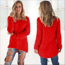 UK Womens Warm Long Sleeve Blouse Sweater Ladies Sweatshirt Jumper Pullover Tops