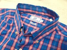 Southern Tide 100% Cotton Blue Plaid Skipjack Sport Shirt NWT Medium $99.50