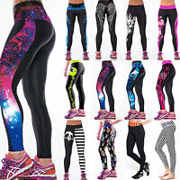 Womens Yoga Gym Pants Running Sports Leggings Fitness Jogging Stretch Workout