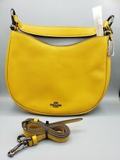 COACH HANDBAGS Hobo Bag Canary Yellow Leather with Crossbody Strap New