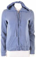 HOLLISTER Womens Hoodie Sweater Size 10 Small Blue Cotton  Q101