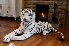 NEW GIANT Large Melissa & Doug Plush Animal White and Black Tiger KIDS Soft Toy