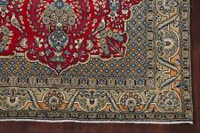 Vintage Floral Tree Of Life Birds Shahreza Oriental Area Rug Hand-Knotted 5'x8'