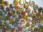 100 Mixed Lot Used Beer Bottle Caps Gold Silver Used Crafts