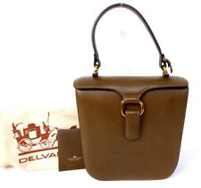 AUTHENTIC Delvaux Beautiful Rugged Brown Leather Excellent Handbag VERY RARE