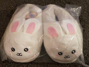 Bunny Rabbit Slippers White Unisex One Size Uk Seller new