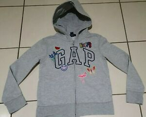 Girls GAP Kids Zipped Hoodie 8-9 Years