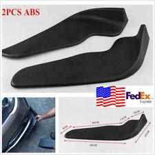 2PC Car Vehicle Bumper Spoiler Front Shovel Decorative Scratch Resistant Wing