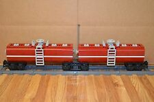 "NEW Lego Train Custom Dark Red Dual Tanker Cars 17"" inches long RC/9V"