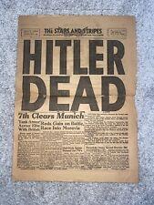 New listing The Stars and Stripes Hitler Dead Newspaper Headline 5/2/1945 Vol.1 No.28