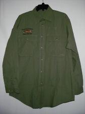 Men's ORVIS Khaki Green Long Sleeve Button Down Outdoor Shirt M