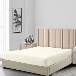 Low Profile Fitted Sheet Only (7-10 inches) Cotton Blend 650 Thread count