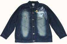 LOT 29 Studs Airbrushed Looney Tunes Sylvester Sam Bugs Denim Jacket Mn XXL NWT
