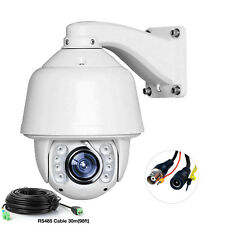Auto Tracking 960H 30X Zoom 1200TVL PTZ High Speed CCTV Dome Camera RS485 Cable