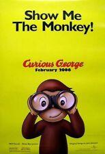 CURIOUS GEORGE 2006 Jack Johnson advance BIG movie poster ~MINT~!!