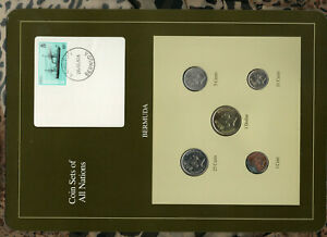 Coin Sets of All Nations Bermuda 1988-1991 UNC $1, 25 cent 1988 10,5 cents 1990
