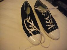 USA Vintage Converse  All Stars worn once sz 8 or 39 black & whte