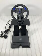 Performance V3FX Racing Steering Wheel & Pedals for Playstation 2 PS2 Untested