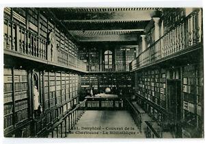 CPA 38 Isère Monastère Grande Chartreuse La Bibliothèque