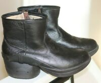 Womens Z-Coil LEATHER Boots Size 9 W9 Black Back Pain Relief Shoes ostrich