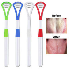1PC Tongue Scraper Cleaning Tongue Oral Hygiene Care Freshener Brush Tool