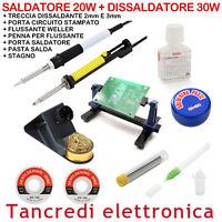 SALDATORE 20W DISSALDATORE 30W POMPA ASPIRA STAGNO FLUSSANTE TRECCIA DISSALDANTE