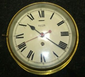 Smiths Astral Brass Ship Clock Vintage Early Twentieth Century