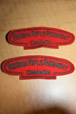 REGINA RIFLE REGIMENT CANADA Cloth Shoulder Flashes